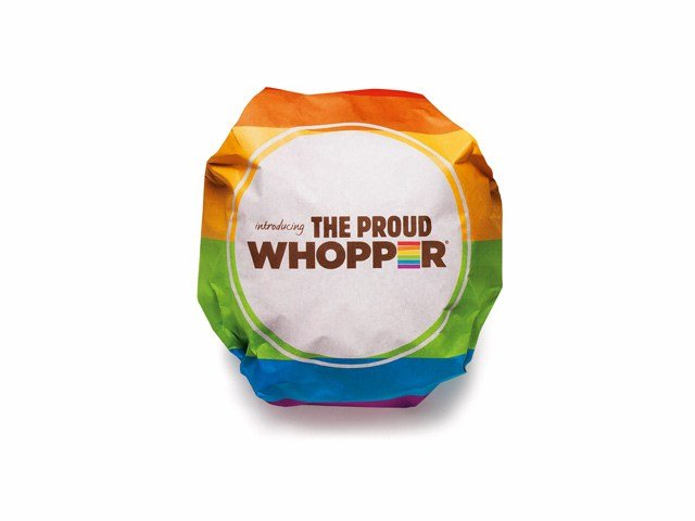 The company announced Wednesday it was selling the Proud Whopper at a San Francisco location through July 3. All sales go to scholarships for LGBT teens. (Source: Burger King)