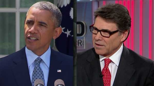 GOP Texas Gov. Rick Perry has been a vocal critic of President Obama's immigration policies while the president has said the GOP-controlled U.S. House has not acted on his immigration measures.  (Source: CNN)