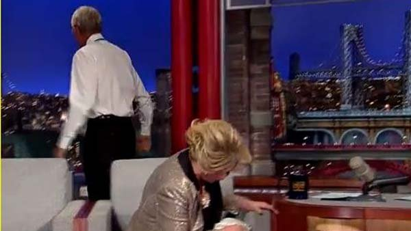David Letterman gave Joan Rivers a dose of her own medicine during an interview. (Source: YouTube)