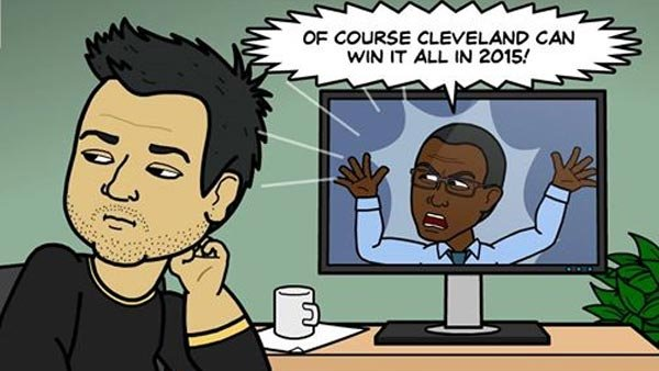 Brian thinks George is nothing more than an internet troll. (Source: Bitstrips/Facebook)