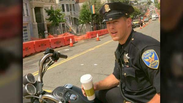 "Officer Chris Kohrs of the San Francisco Police Department is the ""Hot Cop of Castro,"" the latest internet sensation. (Source: Mark Abramson)"
