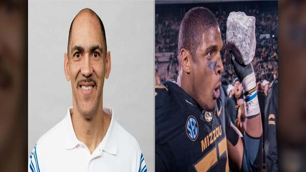 Former NFL head coach Tony Dungy is clarifying comments he made on NFL Draft choices, and the comments were directed at St. Louis Rams rookie Michael Sam. (Source: NFL/Marcus Qwertyus/Wikimedia/MGN Online)