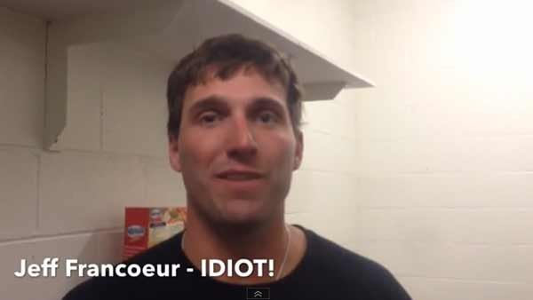 Meet Jeff Francoeur, idiot outfielder for the San Diego Padres. (Source: Antihero Baseball/Day Films/YouTube)