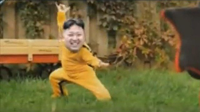 'Kim Jong-un' shows some fancy footwork in a viral YouTube video. North Korean officials were not amused. (Source: YouTube)