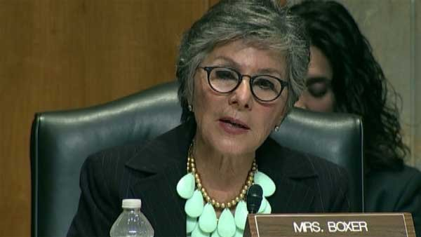 U.S. Sen. Barbara Boxer, D-CA,  said too many lives have been lost in Iraq. (Source: CNN)