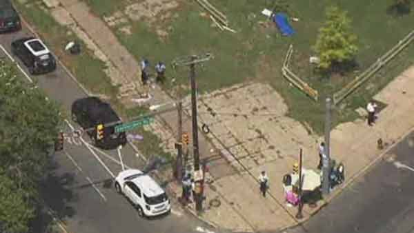 Two children were killed and four others were injured after carjackers plowed into a Philadelphia crowd. (Source: KYW/CNN)