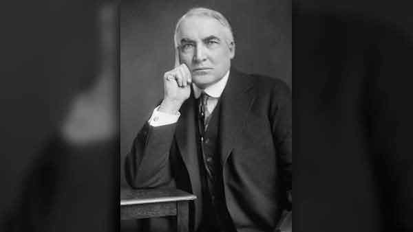 Warren G. Harding, circa 1920. (Source: Library of Congress)