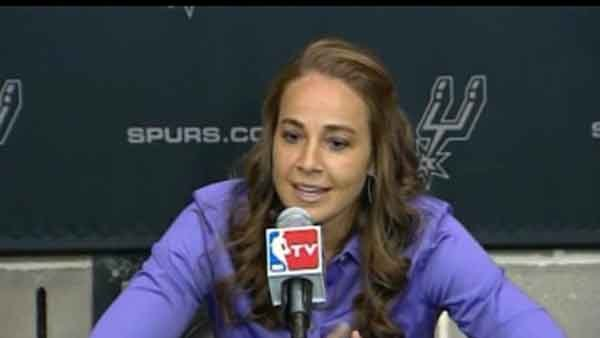 Becky Hammon became the first full time assistant coach of a major professional sports team on Tuesday. (Source: KSAT/CNN)