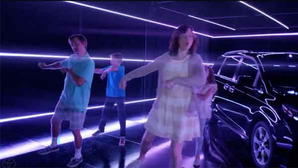 The family that 'Soulja Boy's' together is clearly out of a Toyota commercial. (Source: Toyota USA/YouTube)