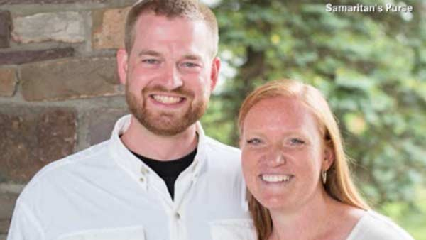 "American doctor Kent Bratly, seen here with his wife Amber, says he is ""growing stronger every day."" (Source: Samaritan's Purse/CNN)"