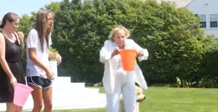 As videos of Americans dumping buckets of ice over their heads dominate social media, Ethel Kennedy calls on President Barack Obama to take the challenge. (Source: Maxwell Kennedy/Facebook)
