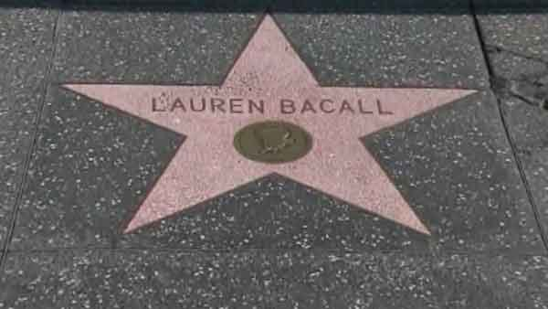 Lauren Bacall's star on the Hollywood Walk of Fame, located at 1724 Vine Street in Hollywood, was awarded to her in 1960. (Source: CNN)