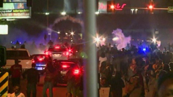 Sunday night, the unrest boiled over in Ferguson, MO. (Source: KMOV/CNN)