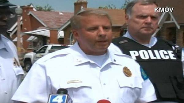 St. Louis Police Chief Sam Dotson answers question about an officer-involved shooting near Ferguson, MO. (Source: KMOV/CNN)