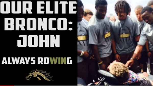 The Western Michigan Broncos team scored their most meaningful points of the season with the help of a former player's son. (Source: Bronco Video/YouTube)