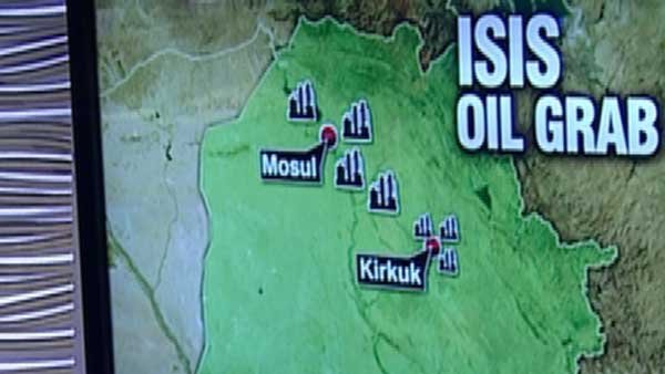 The land grab by ISIS terrorists has fueled an oil trade that is enriching the militants. (Source: CNN)
