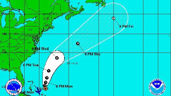 Cristobal is not expected to make landfall in the U.S. (Source: NOAA)
