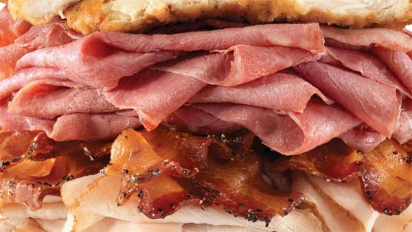 The sandwich contains eight different meats. (Source: Arby's)