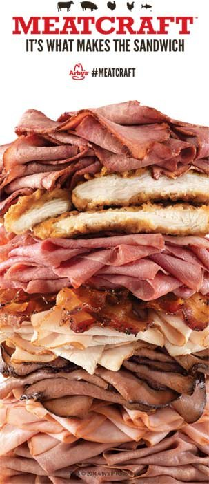 Arby's said the sandwich is the unintentional result of an advertisement campaign. (Source: Arby's)