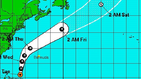 The storm was moving north at 12 mph, packing winds of 75 mph. (Source: NHC)