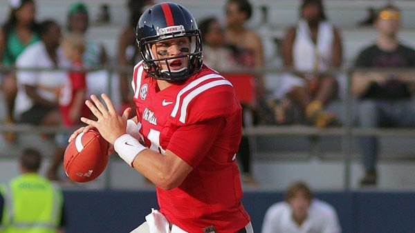Ole Miss quarterback Bo Wallace could be one of the best stories in the SEC this season. He could also repeat history. (Source: Ole Miss Athletics)
