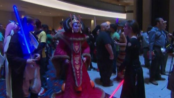 People wear costumes for Dragon Con in Atlanta. (Source:CNN)