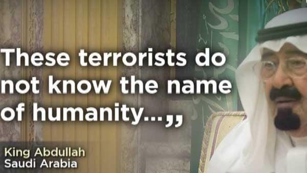 Saudi King Abdullah denounced the beheadings of the American journalists. (Source: CNN)
