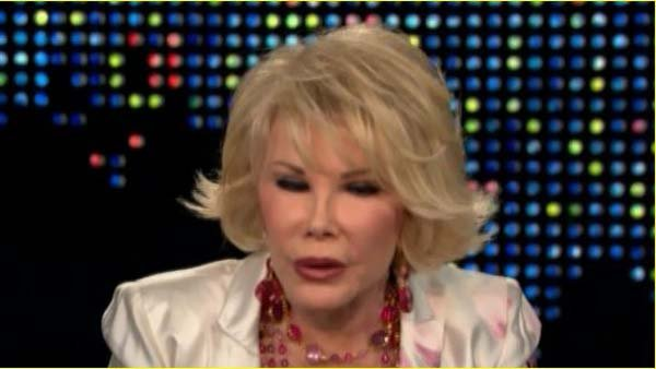 Joan Rivers on 'Larry King Live' in 2010, talking about telling jokes. (Source: CNN)