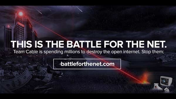 The Internet Slowdown is hoping to raise awareness about net neutrality and urges people to contact their lawmakers. (Source: Battleforthenet.com)