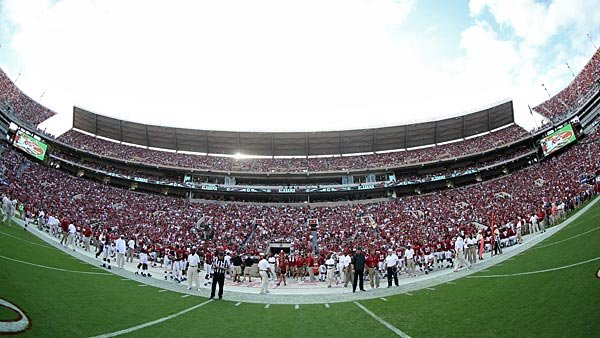 Bryant-Denny Stadium can be an intimidating place to play for opponents, but Mississippi State has been one of the best teams on the road this season. (Source: Alabama Athletic Communications)