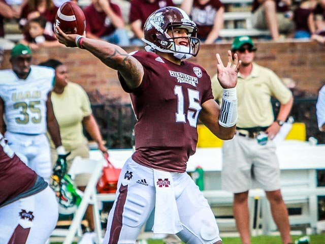Dak Prescott's campaign for Heisman can pick up some more votes if he successfully stumps in Tuscaloosa on Saturday. (Source: MSU Media Relations)