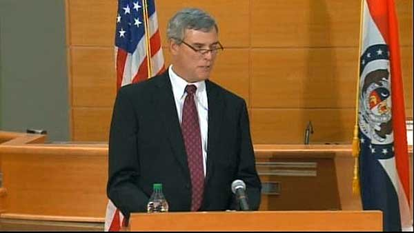 Prosecuting Attorney Robert P. McCulloch announced the grand jury's decision not to indict Officer Darren Wilson. (Source: CNN)