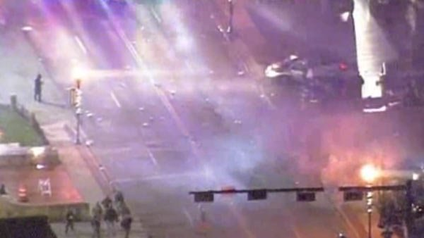 Violent protests have emerged in Ferguson after a grand jury declined to indict Officer Darren Wilson. (Source: CNN)