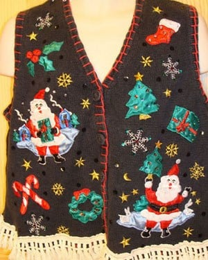 When it comes to ugly Christmas sweaters, the busier, the better. (Source: My Ugly Christmas Sweater)