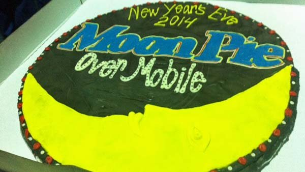 The giant MoonPie provided by Chattanooga Bakery was cut around 8 p.m. Hundreds received a piece of the pie.