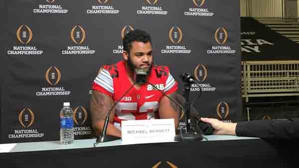 Ohio State defensive lineman Michael Bennett said the Media Day atmosphere isn't his cup of tea. (Source: Brian Tynes/RNN)
