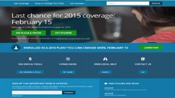 Applicants have until Feb. 15 to sign up for health insurance on the federal marketplace. (Source: CNN)