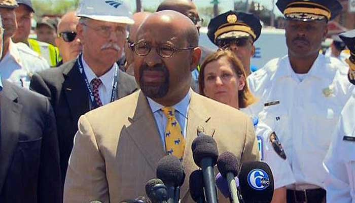 Philadelphia Mayor Michael Nutter speaks at a news conference Thursday. (Source: CNN)