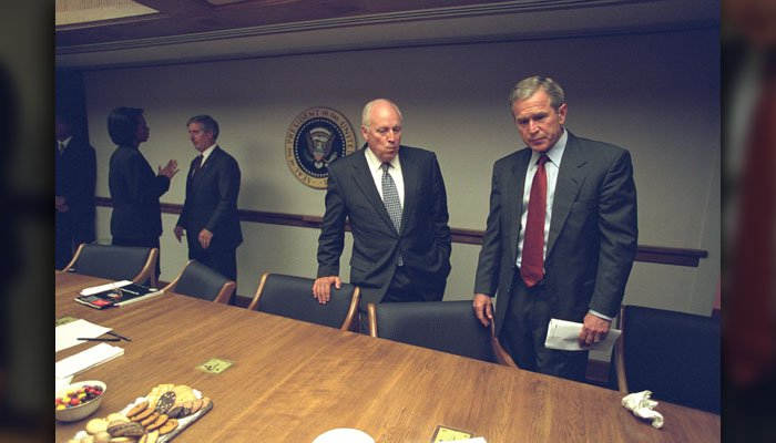 National Archives release photos of White House meeting on Sept. 11