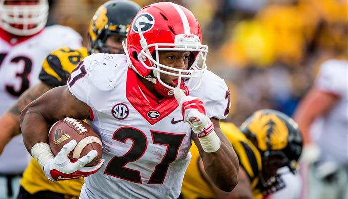 Georgia running back Nick Chubb is considered one of the frontrunners for the Heisman following his stellar freshman season. (Source: Georgia Athletics)