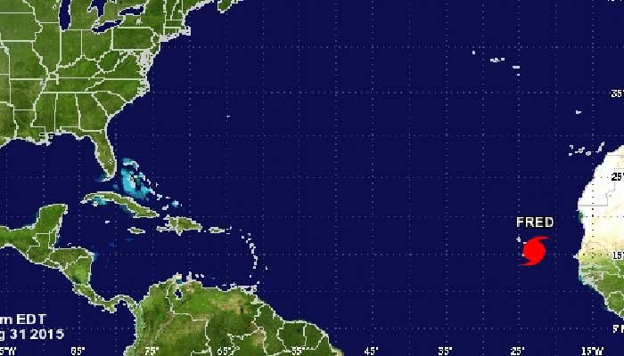 Tropical Storm Fred moves into the Carribean Islands. (Source:National Hurricane Center)