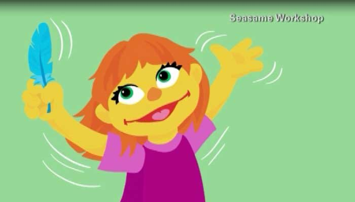 Sesame Street introduces Julia, a new character on the show who is autistic. (Source: CNN)