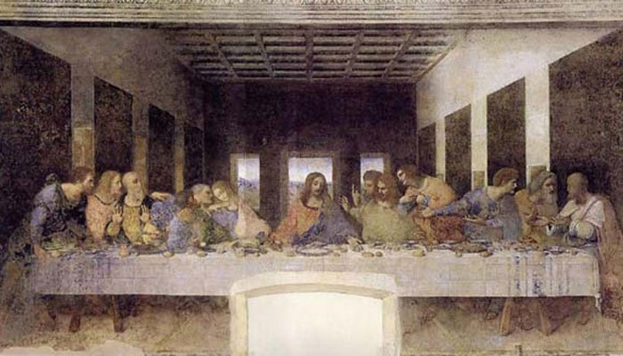 Judas was the 13th guest to arrive at the last Supper. This painting is by Leonardo Da Vinci and is at the Convent of Santa Maria Dell Grazie, Milan Italy.