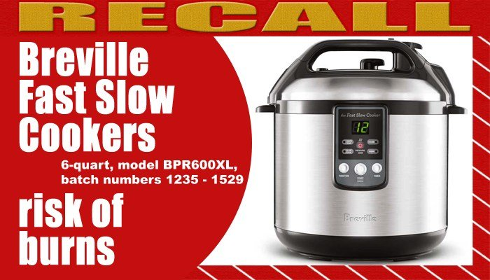 Breville USA said it has received reports that five incidents of escaping steam or hot contents have caused burns  (Source: USCPSC/Raycom Media)