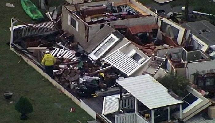 Storms and tornadoes cut a wide swath of destruction through Texas. (Source: KXAN/KTVT/NathanMoore/LSM;@Basehunters/KRLD/AndrewGreenstein/CNN)