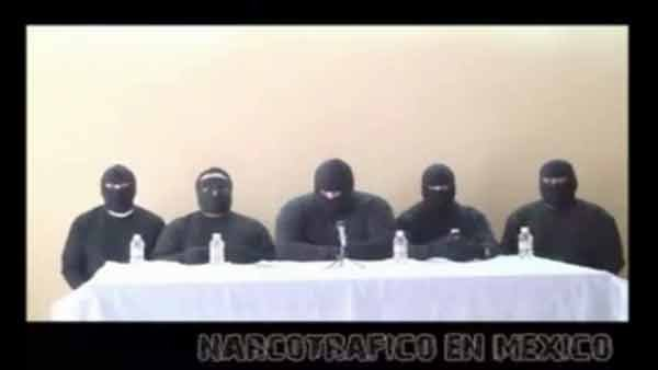 "A group claiming to be the ""Zeta Killers"" say they're protecting citizens from the drug cartel. (Source: CNN)"