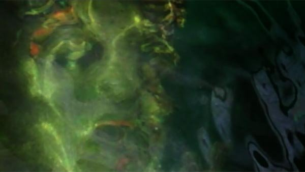 Susan De Vanny and her family said the face appeared in the shimmering oil in the water above the wrecked ship. (Source: Susan De Vanny/KHON/CNN)