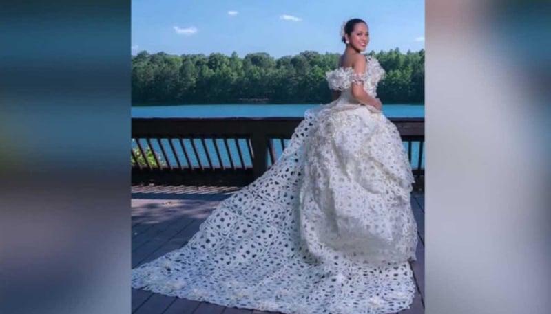 VA man reaches finals in toilet paper wedding dress contest - WSFA ...