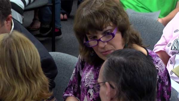 Laura Jane Klug, center, was rallied behind by supporters. (Source: KBMT/CNN)