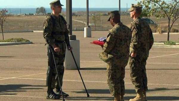 Marine Capt. Derek Herrera receiving Bronze Star